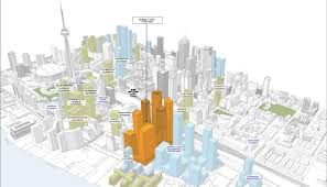 modern architecture drawing. drawing showing location of new one yonge skyscrapers modern architecture i