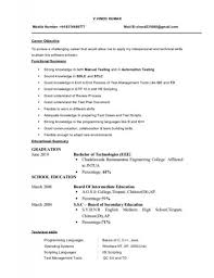 Resume Format For Software Tester Resume Examples