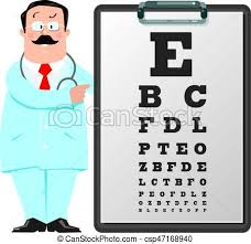 Dr Office Eye Chart Optician Doctor With Snellen Eye Chart Doctor