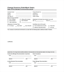 Change Order Forms Word Custom Request Template Form Excel