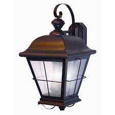 heath zenith 25 5 8 in antique bronze motion activated outdoor wall light