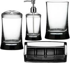 Black Bathroom Accessories Clear Bathroom Accessories Set
