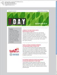 Tafe Sa Graphic Design Tday Tafe Sa Email Newsletter Toolbox Folio Diagram