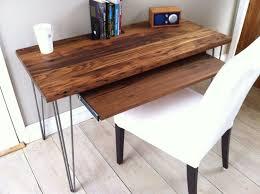 modern desk with slide out keyboard tray esty dream home studio desk 3