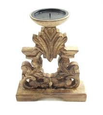 medium size of antique wooden candle holders effect white brown hand carved pillar church holder stick