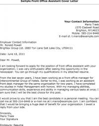 Cover Letter Doctors Receptionist Examples Medical With 25 With