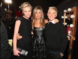 Ellen And Portia Ellen Degeneres And Portia De Rossi At The Peoples Choice Awards