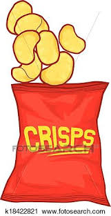 bag of potato chips clipart.  Clipart Clipart  Potato Chips Bag  Fotosearch Search Clip Art Illustration  Murals Drawings Throughout Bag Of Potato Chips S