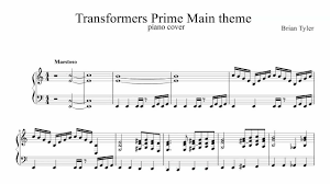 transformers sheet transformers prime opening theme full piano cover with sheet music