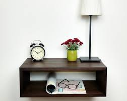 Floating Nightstand / Modern Bedside Table / Mid Century Night Stand / Wall  Mounted Nightstand /