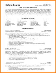 7 Legal Assistant Resume Sample Job Apply Letter