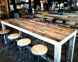 reclaimed wood bar table top ideas with finest height counter reclai