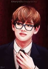bts images kim taehyung in gles fanart hd wallpaper and background photos