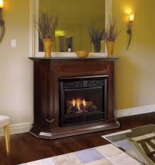 chesapeake 24 inch vent free gas fireplace remote ready with wall surround and hearth