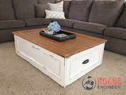Attractive How To Build A Coffee Table With Storage Rogue Engineer
