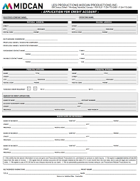 Credit Application For Rental Rental Forms Les Productions Midcan Productions