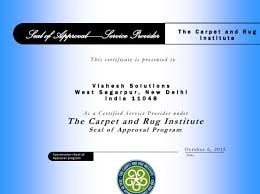 We are 1st and only Certified Service Provider from CRI Carpet