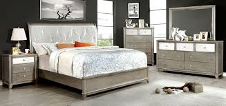 Silver Bedroom Furniture Furniture Of America Cm7288sv Ek Cm7288sv N Cm7288sv D Cm7288sv M