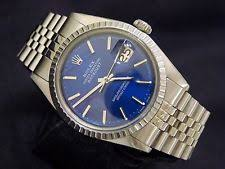 men s rolex watches new used vintage mens rolex datejust stainless steel watch jubilee submariner blue dial 1603