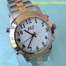 compare prices on mens talking watch online shopping buy low portuguese talking watch big voice for blind people quartz alarm watch falar portugues