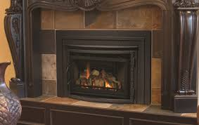 ... Contemporary Home Interior Design Ideas Using Electric Gas Fireplace  Insert Decoration : Wonderful Black Iron Fireplace ...