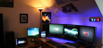 home office gaming computer. Gaming PC Setup (SICK) Home Office Computer