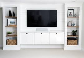 Living Room Built Ins Diy Shiplapped Built Ins Finished And Styled Chris Loves Julia