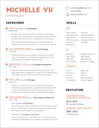 Resume Michelle Vu Ux Ui Designer