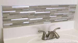 Backsplash Bathroom Ideas Gorgeous Small Bathroom Remodel Easy DIY Tile Backsplash Smart DIY