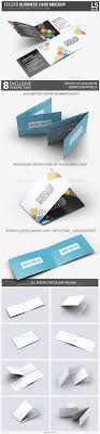 best ideas about folded business cards pop up folded business card mock up