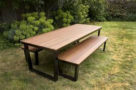 outdoor table. Outdoor Furniture Bench Crafty Inspiration Idea Table T