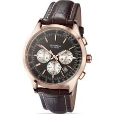 sekonda chronograph black dial chronograph brown leather strap sekonda midnight chronograph black dial brown leather strap mens watch 3413