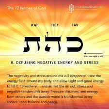 Light Of God In Hebrew 72 Names Of God 8 Defusing Negative Energy And Stress