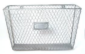 decorative wall file mesh organizer wire pocket