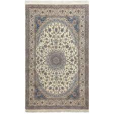 ivory vintage nain persian rug for