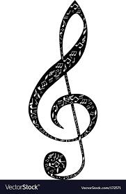 treblecleff treble clef design royalty free vector image vectorstock