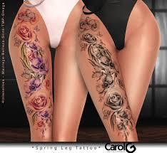 Spring Leg Tattoo Carol G Exclusive Cosmopolitan Event O Flickr