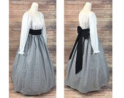 pioneer woman clothing. complete outfit - skirt, blouse and sash renaissance civil war victorian southern belle larp pioneer woman clothing e