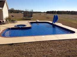 ... Fancy Swimming Pool Designs With Dark Pool Liners : Entrancing Swimming Pool  Decorating Ideas Using Dark ...