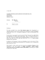 Sample Demand Letter For Payment Of Services