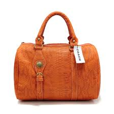 Coach Embossed Medium Orange Luggage Bags DEG