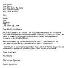 9 Best Acceptance Letters Images Job Offer Letter Sample Letter