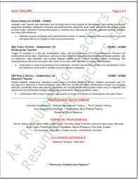 Example Of Teacher Resume Amazing Pre K Teacher Resume 48 Preschool Sample Techtrontechnologies