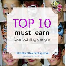 top 10 must learn face painting designs and 1 more