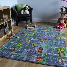 photo 1 of 10 kids city play mat fun town cars play village road rug kids fun rugs