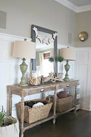 white foyer table. Wondrous Decorating Foyer Hall Everett Table With Amusing Mirror Adorable White Lowes Wall And