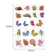 18 видов конструкций 1 шт блестящая мультяшная наклейка тату маленькая бабочка