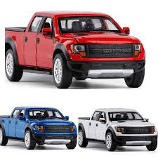High Simulation 1:34 FORD F150 RAPTOR Alloy Car Models With Sound ...