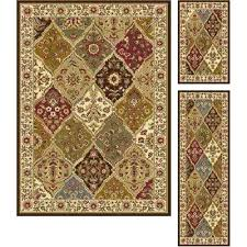 3 piece rug set area rugs sets with runner n