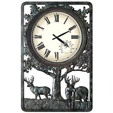 large outdoor wall clock deer outdoor wall clock thermometer for dad giant 12 numeral led outdoor large outdoor wall clock
